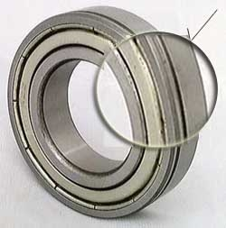6002ZZN Shielded Bearing Snap Ring 15x32x9 with snap ring groove