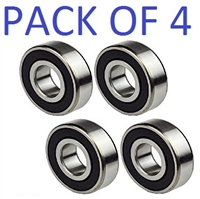 6008-2RS Bearing 40x68x15 Ball Bearing Dual Sided Rubber Sealed Deep Groove (4PCS)