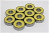 608-2RS Ball Bearing with Yellow Seals Pack of 100