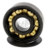 Set of 16 608B-2RS Inline Rollerblade Skate Sealed Bearings with Bronze Cage and Black Seals 8x22x7mm