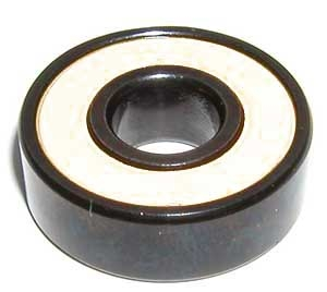 Set of 8 Skateboard Black Bearings with Bronze Cage and white Seals 8x22x7mm