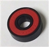 608B-2RS Fidget Hand Spinner Black Bearing with Nylon Cage and red Seals 8x22x7mm
