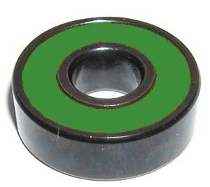 608B-2RS Sealed Black Bearing with Bronze Cage and green Seals 8x22x7mm