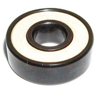 608B-2RS Sealed Black Bearing with Bronze Cage and white Seals 8x22x7mm