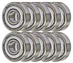 608ZZ Shielded 8x22x7 Miniature Bearing Pack of 10