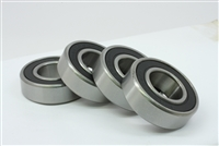 Ball Bearing Dual Sided Rubber Sealed Deep Groove (4PCS)