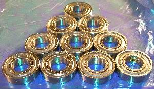 6202ZZ 15x35x11 Shielded Bearing Pack of 10