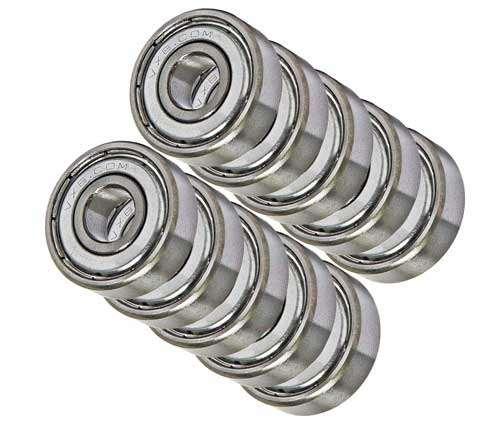 6x13x5 ABEC-3 Chrome Steel Ball Bearings Metal Shields 10 686 ZZ