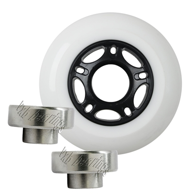 Heavy Duty Travel Bag 80mm  Luggage White Wheel Set with a  82A durometer