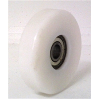8mm Bore Bearing with 50mm White Plastic Tire 8x50x12mm