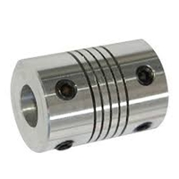 Flexible Parallel Aluminium Jaw Shaft CNC Coupling D19-L25-5x10MM