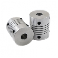 Flexible Parallel Aluminium Jaw Shaft CNC Coupling D19-L25-5x7MM