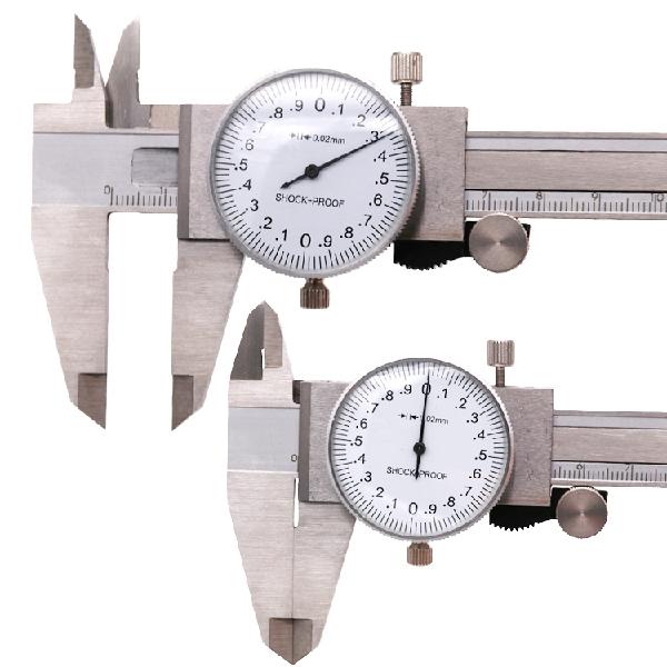 old school precision dial vernier caliper gauge inch measuring tool 0 6