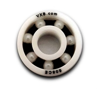 608-ZrO2 Full Ceramic Ball Bearing w Nylon Cage Bore Dia. 8mm OD 22mm Width 7mm