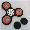 Fidget Hand SpinnersToy with Center ZrO2 Ceramic Bearing, 2 caps and 3 outer red Bearings