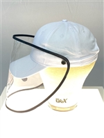 White Baseball Cap+Detachable Protective Face Shield Visor