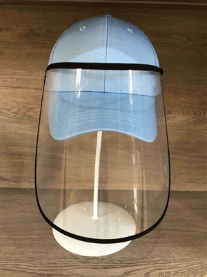 Baby Blue Ball Cap with Face Shield