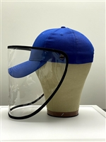 Navy Blue Cap with Anti -Fog Anti-Spittle Full Face Protection