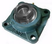 "1 1/8"" Bearing HCF206-18 + Square Flanged Housing Mounted Bearing with eccentric collar"