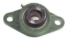 17mm Bearing HCFL203  2 Bolt Flanged Cast Housing Mounted Bearing with Eccentric Collar Lock
