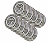 4x7 Metal Shielded 4x7x2.5 Metric 4mm Bore Bearings Pack of 10