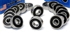 16 Skate Ceramic Bearing 608-2RS 8x22x7 Si3N4:Sealed
