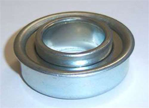 """Set of 2 Flanged Ball Bearings 1//2/"""" ID x 1-1//8/"""" OD for Lawn Mower Wheel"""