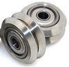 Linear Motion Guide Way 10x24.5x5.6mm V Groove Track Roller Bearing