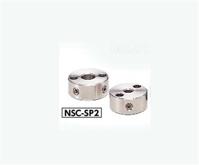 NSC-10-10-SP2 NBK Steel Set Collar with Installation Hole - Set Screw Type -  NBK - One Collar Made in Japan