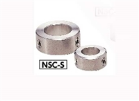 NSC-8-10-S NBK Steel Collar - Set Screw Hex Socket SUSXM7 Type -  NBK - One Collar Made in Japan