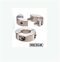 NSCSS-20-15-M NBK Set Collar  Split  type - Steel Electroless Nickel Plating One Collar Made in Japan