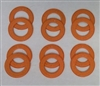 A Pack of 12 Orange seals for 608 Bearings