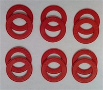 A Pack of 12 Red seals for 608 Bearings