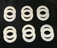 A Pack of 12 White seals for 608 Bearings