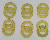 A Pack of 12 Yellow seals for 608 Bearings