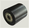 PU8x30x30ZZ Shielded Bearing with Black Polyurethane Tire 8x30x30mm