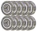 "10 Shielded Bearing R1038ZZ 3/8""x5/8""x5/32"" inch Miniature Bearings"
