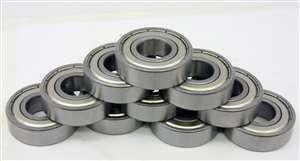 "10 Shielded Bearing R3ZZ 3/16""x1/2""x0.196"" inch 3/16"" Inch Bearings"