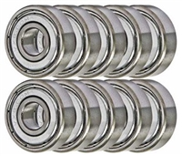 R8PP Ball Bearings 8x22x7 Miniature Bearing Pack of 10