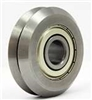 "RM2ZZ 3/8"" V-Groove Guide Bearing Shielded Vgrooved pack of 4"
