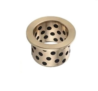 Flanged Bronze Graphite Bushing 6x10x15mm Self lubricated Sleeve Bearing