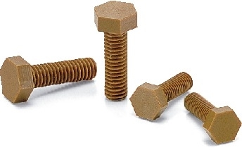 SPDC-M4-10-H NBK Plastic Screw - Hex Head Screws - VESPEL(Grade:SCP-5000 ) Pack of 1  Screw -  Made in Japan
