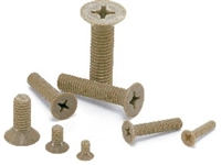 SPE-M5-10-F NBK Plastic Screw - Cross Recessed Flat Head Machine Screws - PEEK  Pack of 10 Screws -  Made in Japan