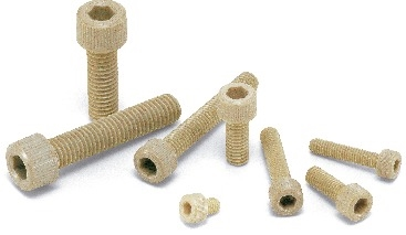 SPS-M4-6-C NBK Plastic Screw - Socket Head Cap Screws - PPS  Pack of 20 Screws -  Made in Japan