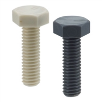SPVC-M4-12-H-GR NBK Plastic Screw - Hex Head Screws - H-PVC  Made in Japan