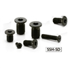 SSH-M4-6-SD-NBK Socket Head Cap Screws with Extreme Low & Small Head- Pack of 10-Made in Japan