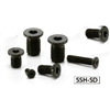 SSH-M5-6-SD-NBK Socket Head Cap Screws with Extreme Low & Small Head- Pack of 10-Made in Japan