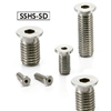 SSHS-M5-8-SD NBK   Length Socket Head Cap Screws with Extreme Low & Small Head.Pack of 10-Made in Japan