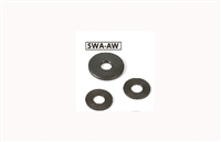 SWA-6-10-1-AW NBK Adjust Metal Washer - Steel - Ferrosoferric Oxide Film Pack of 10 Washer Made in Japan