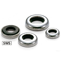 SWS-10 NBK Ribbed Lock Washers - Steel  NBK Lock Washers  Pack of 5 Washer Made in Japan